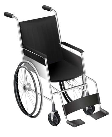 Wheel chair: Illustration showing the wheelchair