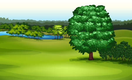 Illustration showing the natural environment Vector