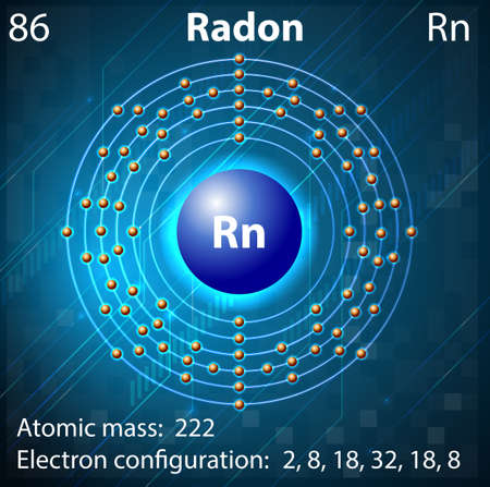 radon: Illustration of the element Radon