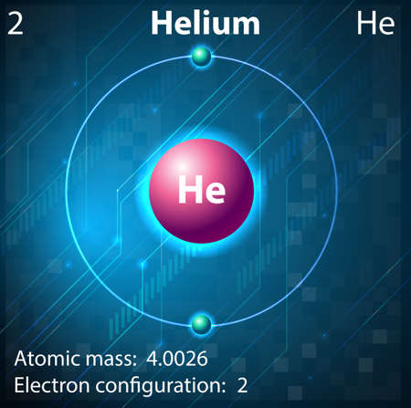 helium: Illustration of the element Helium