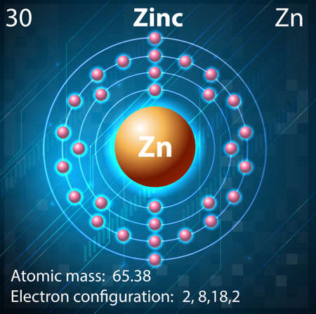 electron shell: Illustration of the element Zinc