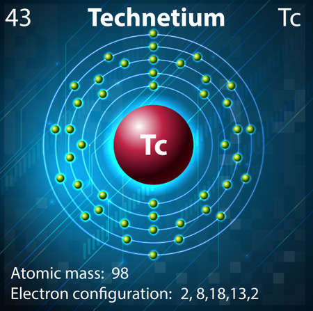 element: Illustration of the element Technetium