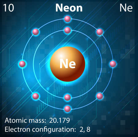 electron shell: Illustration of the element Neon Illustration