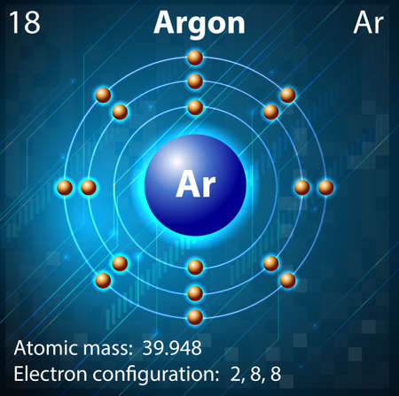 Illustration of the element Argon Vector