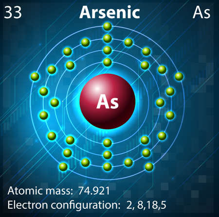Illustration of the element Arsenic Stock Vector - 21832626