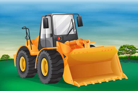 Illustration showing the bulldozer Illustration