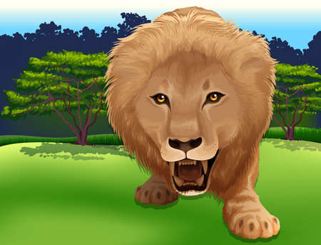 Illustration of a Lion Stock Vector - 22385929