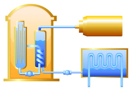 uranium: Illustration of the nuclear reactor Illustration