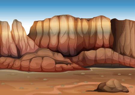 diurnal: Illustration of the ecosystem desert