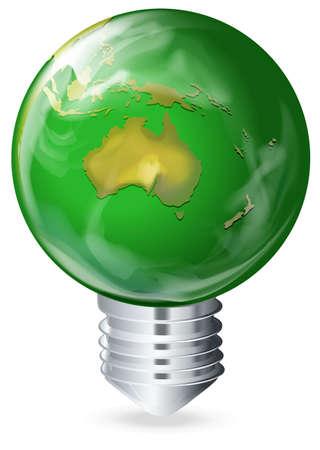 Illustration of an eco-friendly light bulb Stock Vector - 22386050