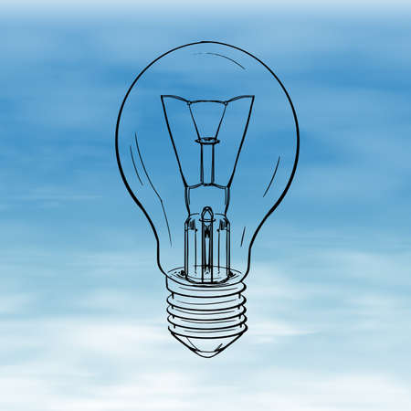 Illustration showing a bulb Stock Vector - 22386057