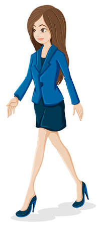 Ilustración de una señora de la oficina
