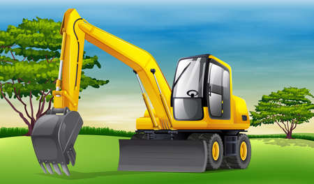 Illustration of an excavator Vector