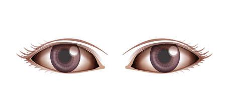 bilinçli: Beyaz bir arka plan üzerinde insan gözü gösteren İllüstrasyon