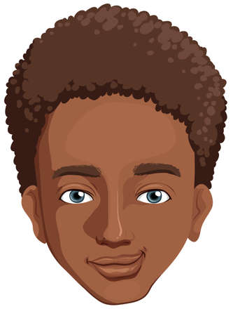 Illustration of an african-american guy on a white background Stock Vector - 22730233