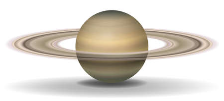 wandering: Illustration of planet Saturn on a white background Illustration