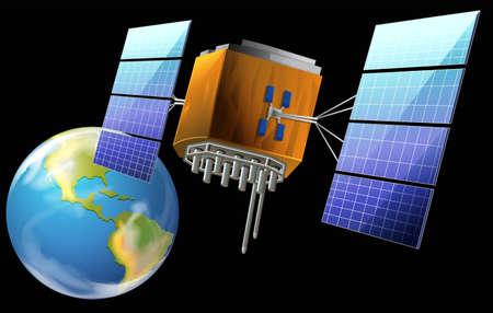 Illustratie van een satelliet