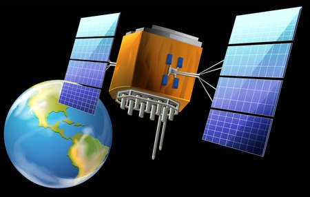 polar station: Illustration of a satellite Illustration