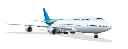 jetplane: Illustration of an airplane on a white background