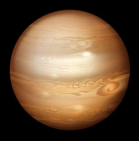 outerspace: Illustration of Jupiter Illustration