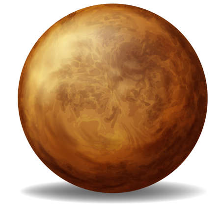 Illustration of Venus on a white background