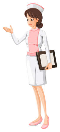educated: Illustration of a health care practitioner on a white background