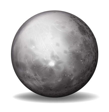 remnant: Illustration of planet Mercury on a white background