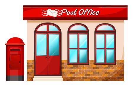 Ilustracja poczta na białym tle