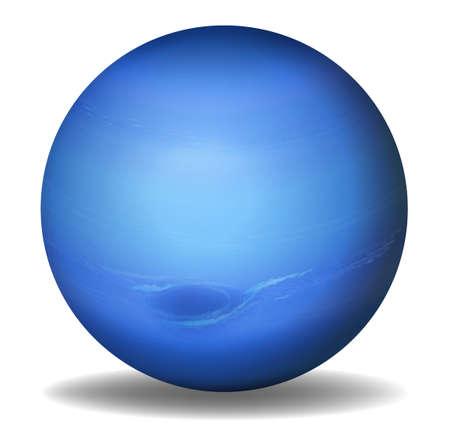 neptuno: Ilustración del planeta Neptuno sobre un fondo blanco Vectores