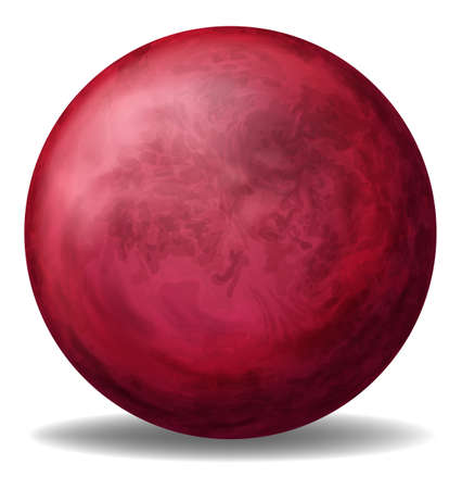 ovoid: Illustration of a red ball on a white background