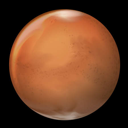 Illustration of Mars Vector