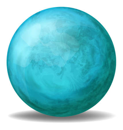 hardwearing: Illustration of a blue ball on a white background   Illustration