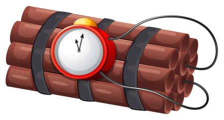 penetration: Illustration of an explosive bomb on a white background