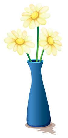 melaware: Illustration of the flowers inside a vase on a white background