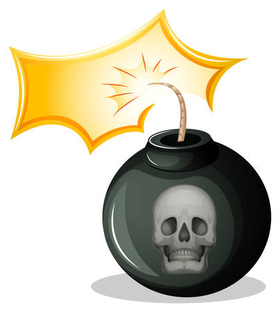 penetration: Illustration of a rounded bomb on a white background Illustration