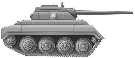 frontline: Illustration of a tank on a white background