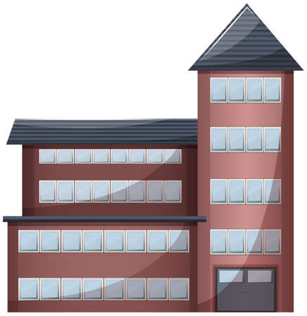 civil engineers: Illustration of a very tall building on a white background