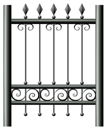 boundaries: Illustration of a gate on a white background