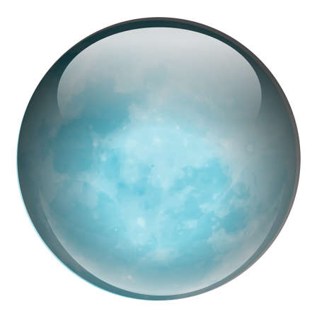 bounces: Illustration of a blue ball on a white background Illustration