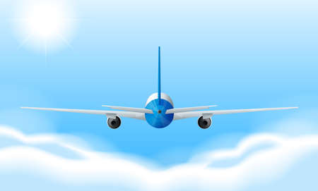 propulsion:  Illustration of a jetplane