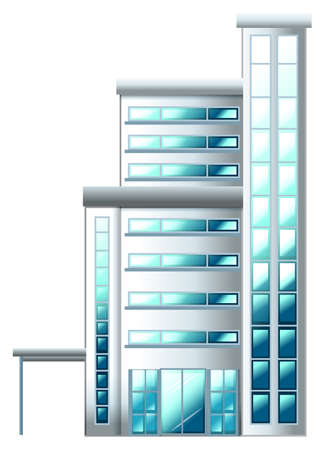 civil engineers: Illustration of a high building on a white background Illustration