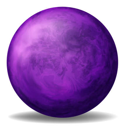 bounces: Illustration of a violet ball on a white background