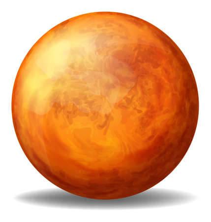 ovoid: Illustration of an orange ball on a white background