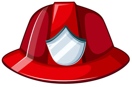 cinders: Illustration of a fire helmet on a white background