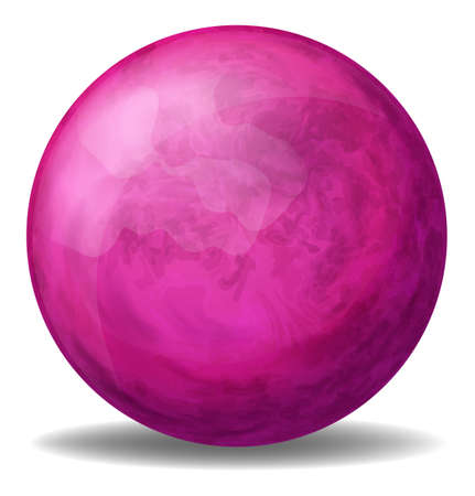 bounces: Illustration of a pink ball on a white background