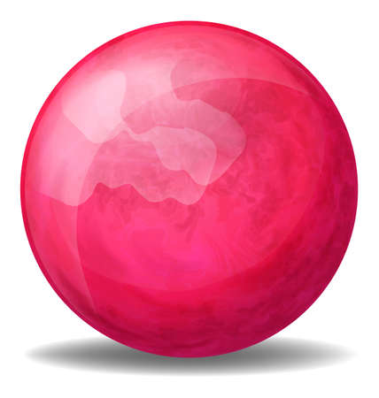 ovoid: Illustration of a fuschia pink ball on a white background