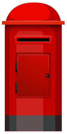 post box: Illustration of a post box on a white background