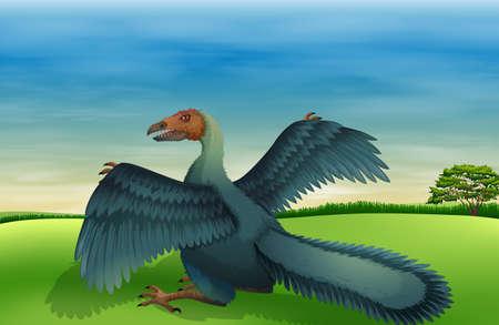 socially: Illustration of a big bird