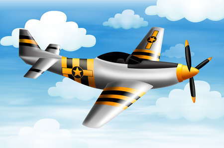 Illustration of a fighter plane Stock Vector - 23977563