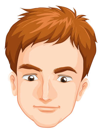 Illustration of a males face on a white background